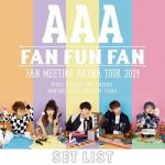 [Album] AAA – AAA FAN MEETING ARENA TOUR 2019 ~FAN FUN FAN~SETLIST (2019/AAC/RAR)